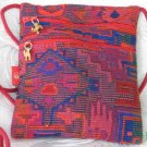 Square - Multi - Colored Red/Orange Purse Handbag Tote Sling Bag