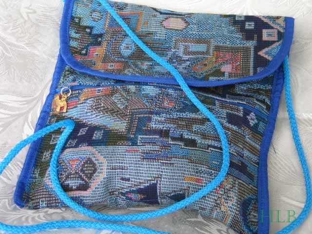 Combo -  2  in 1 Multi Colored Blue Purse Handbag Sling