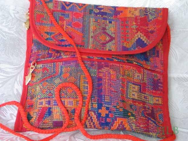 Combo -  2  in 1 Multi Colored Orange Tones Purse Hangbag Sling