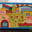 Jewelry Box  Emanuel Wood Hand Painted Small 'Jerusalem''
