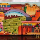 Jewelry Box  Emanuel Wood Hand Painted Medium  'Jerusalem Kotel'