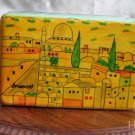 Jewelry Box  Emanuel Wood Hand Painted  Medium  'Jerusalem of Gold'