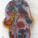 Hamsa - Yair Emanuel's  Glass Hand Painted  Large  'Birds'