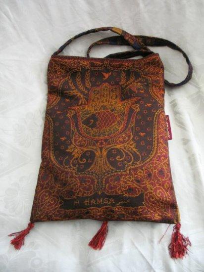 Hamsa Bag -  Burgundy/Gold Hippy Shoulder Tote Bag