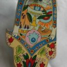 Wood Hamsa Emanuel Hand Painted Wall Decor  'Symbolic'