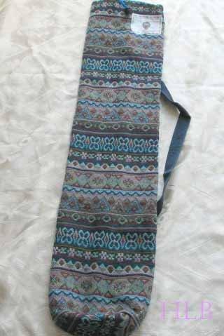 Shofar Bag  Ethnic Woven Fabric Blue Medium Size -- M2R