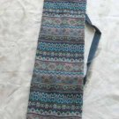 Shofar Bag  Ethnic Woven Fabric Blue Medium Size -- M2R