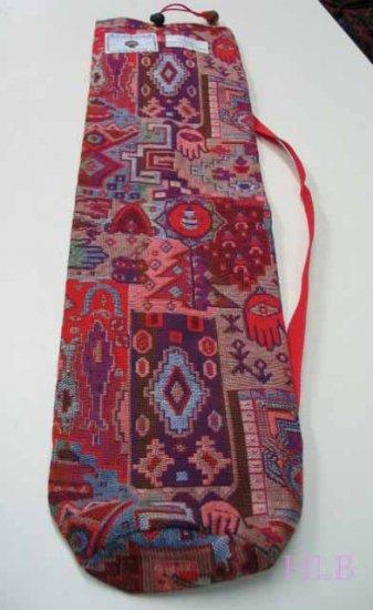 Shofar Bag  Ethnic Woven Fabric Red Medium Size -- D21