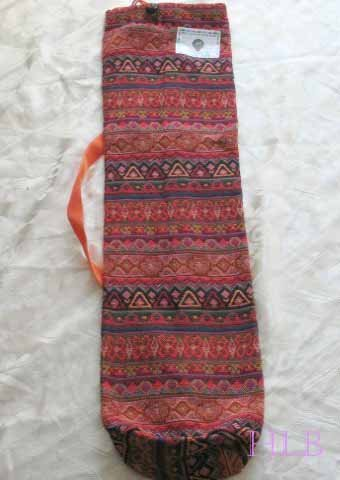 Shofar Bag  Ethnic Woven Fabric Orange Medium Size -- M7-8