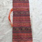 Shofar Bag  Ethnic Woven Fabric Orange Medium Size -- M7-8