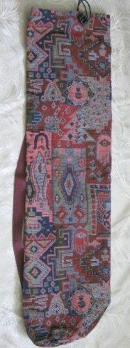 Shofar Bag  Ethnic Woven Fabric Red Medium Size -- D21NW