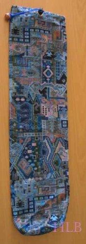 Shofar Bag  Ethnic Woven Fabric Blue  Medium Size -- D17