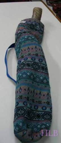 Shofar Bag  Ethnic Woven Fabric Blue  Medium Size --M2L