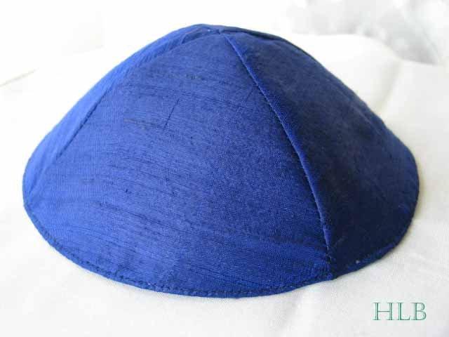 Kippa Raw Silk Emanuel Royal Blue YAR5