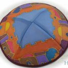 Kippa Emanuel Hand Painted Silk Multi-Color  -- YAS10