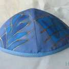 Kippa Emanuel Hand Painted Silk Multi-Color Blue -- YAS1
