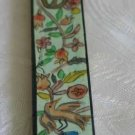 Mezuzah Emanuel Wood Small  Hand Painted Birds -- MZS6