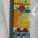 Mezuzah Emanuel Wood Large  Hand Painted Jerusalem Arches and Walls -- MZL20