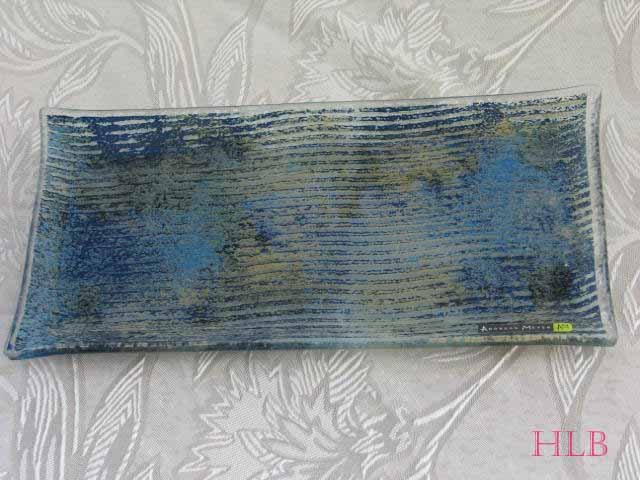 Tray Andreas Meyer Fused Decorative Glass - Jeans