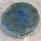 Round Dish Andreas Meyer Fused Decorative Glass - Jeans