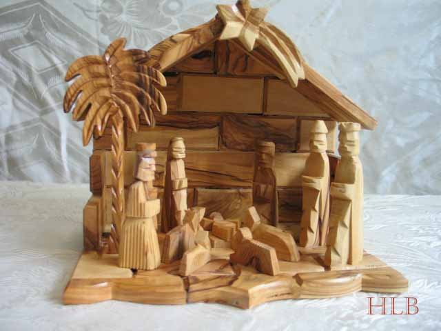 Large Olive Wood Nativity Scene
