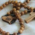 Olive Wood Bethlehem Holy Land Rosary Jerusalem Cross