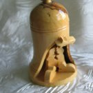 Olive Wood Bell With Nativity Scene -  Large Size