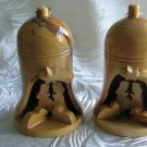 2  Olive Wood Bells With Nativity Scene -  Large Size