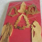 6 Gift Packed Olive Wood Christmas Tree Ornaments