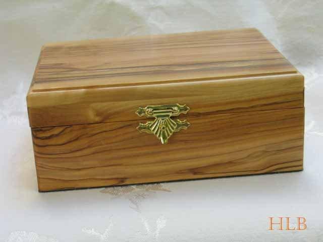 Jewelry Box Olive Wood Keepsake  Extra Large