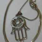 Silver Star of David And Hamsa Necklace