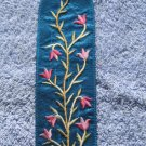Embroidered Silk Emanuel Bookmark Flowers BME3T