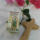 Olive Wood Comfort Holding Cross & Frankincense Anointing Oil