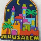 3D Embossed Fridge Magnet Jerusalem Old City Neon Colors