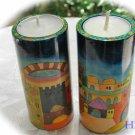 Yair Emanuel Round Shabbat Jerusalem Candlesticks