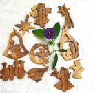 10 Olive Wood Olivewood Bethlehem Christmas Tree Ornaments