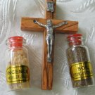 Cross Crucifix With Incense & Holy Soil Sample