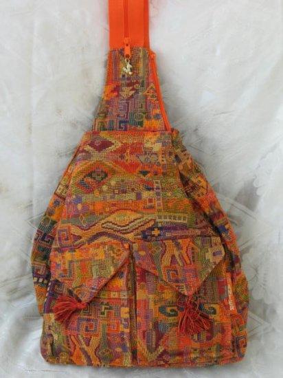 XL Ethnic Woven Backpack 3 Pockets Shoulder Tote Bag D10