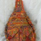 XL Ethnic Woven Backpack 3 Pockets Shoulder Tote Bag D10