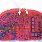 Red Cosmetic Bag or Clutch Purse