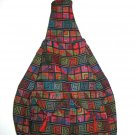 XL Ethnic Woven Backpack 3 Pockets Shoulder Tote U3R