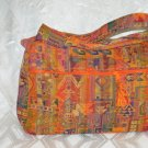 Sunny Druze Pattern Orange 4 Pockets Shoulder Handbag