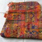 Ethnic Woven Orange Shaded Triangle Purse