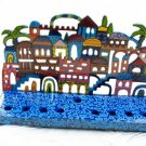 Emanuel Painted Jerusalem Lazer Cut Menorah - Jerusalem HML4