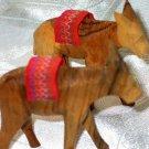 Donkeys 2 Olive Wood Carved Set
