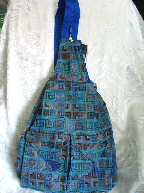 Ethnic Woven Backpack 3 Pockets Shoulder Tote U2L