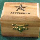 Olive Wood Jewelry Keepsake Box Bethlehem Sm