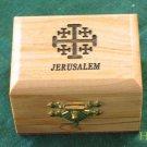 Olive Wood Jewelry Keepsake Box Jerusalem Cross Sm