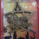 Olive Wood Bethlehem Baby Jesus Christmas Star Ornament 3