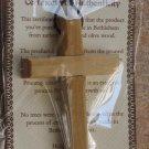 6 Olive Wood Deluxe Cross Pendants On String